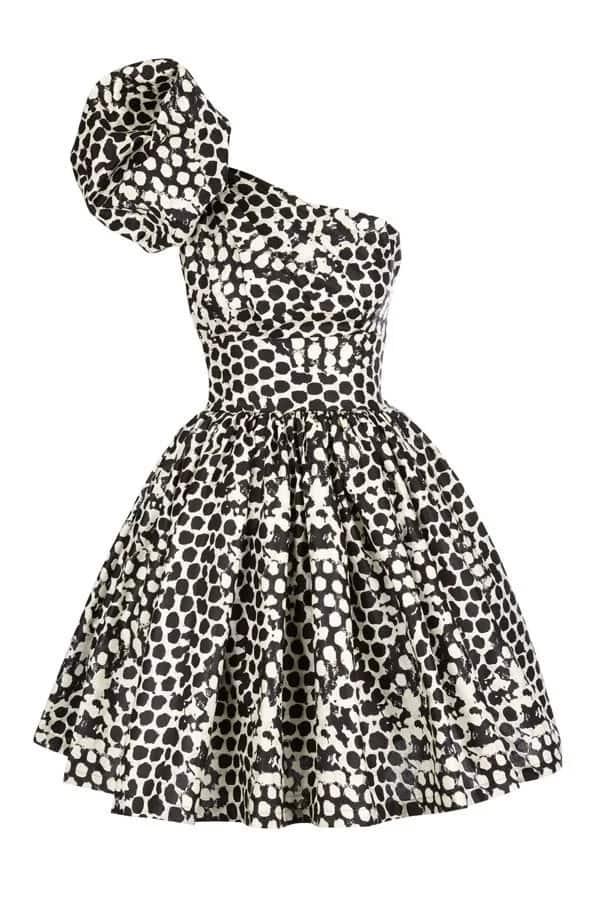 Monochrome short kitenge dress designs