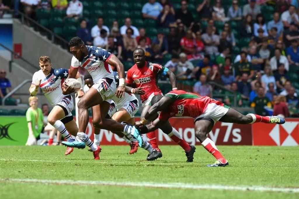 Brazen Kenya fail to reach London Sevens Cup quarter finals after thumping defeat by England