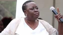 Raila's sister leads NASA supporters in demos outside UK Parliament