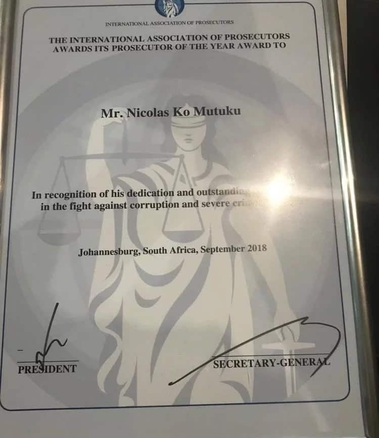DPP Noordin Haji's deputy wins an award for fight against corruption