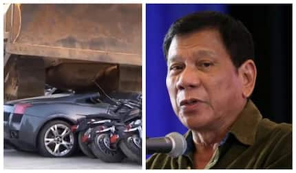 Phillipines president destroys KSh 0.5 billion worth of luxury cars in fight against corruption