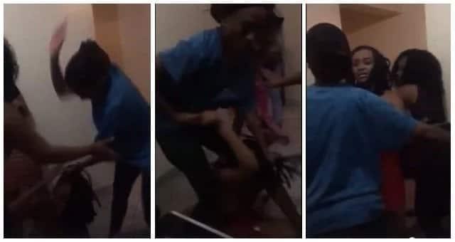 Nairobi women caught on camera beating up an alleged boyfriend snatcher