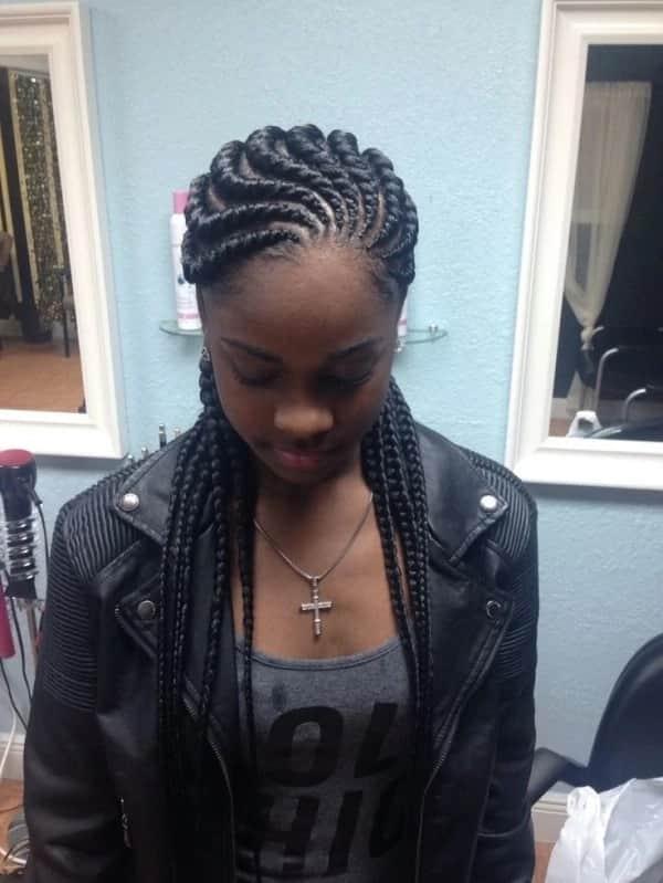 ghanaian hairstyles, ghanaian braids hairstyles, ghanaian lines hairstyles