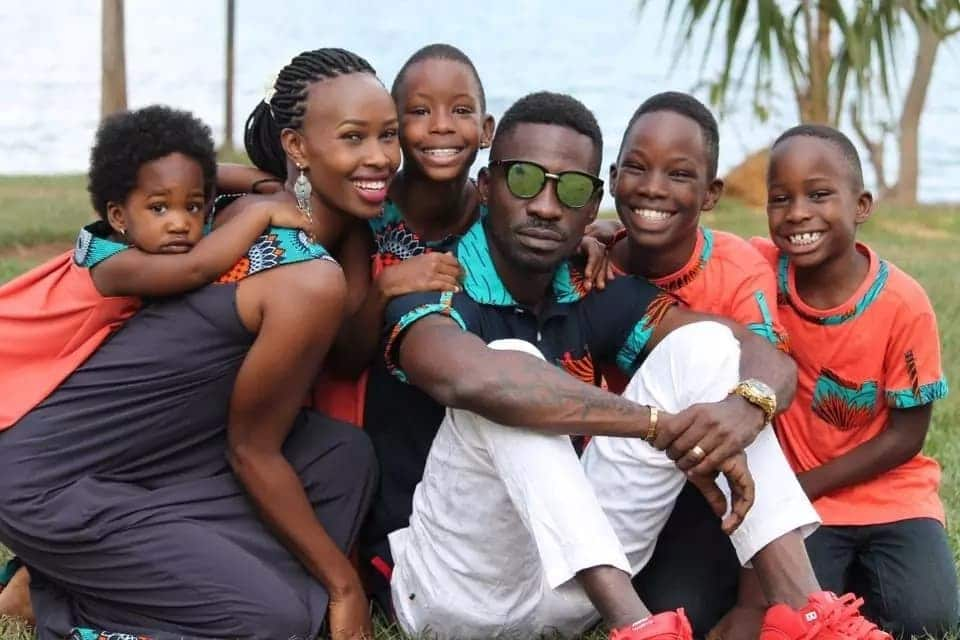 Bobi Wine's striking resemblance with his children in these photos is every African man's wish