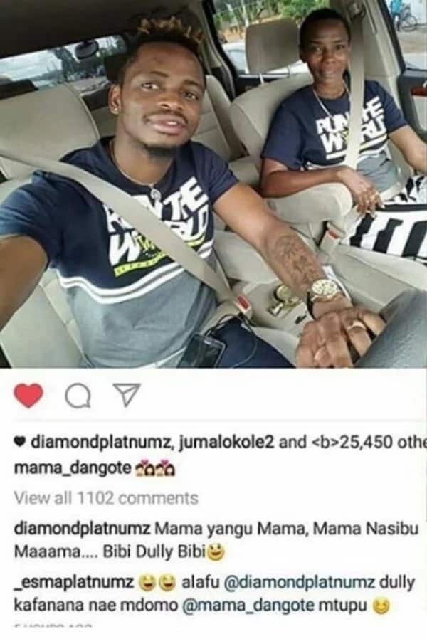 Diamond Platinumz family finally accepts Hamisa Mobetto's son days after break-up with Zari