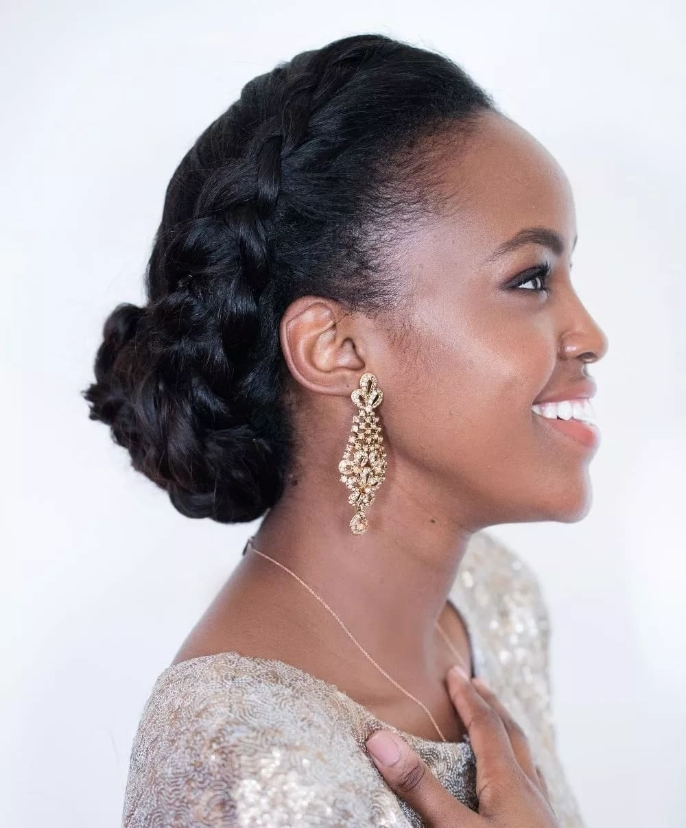 Latest wedding hairstyles in Kenya