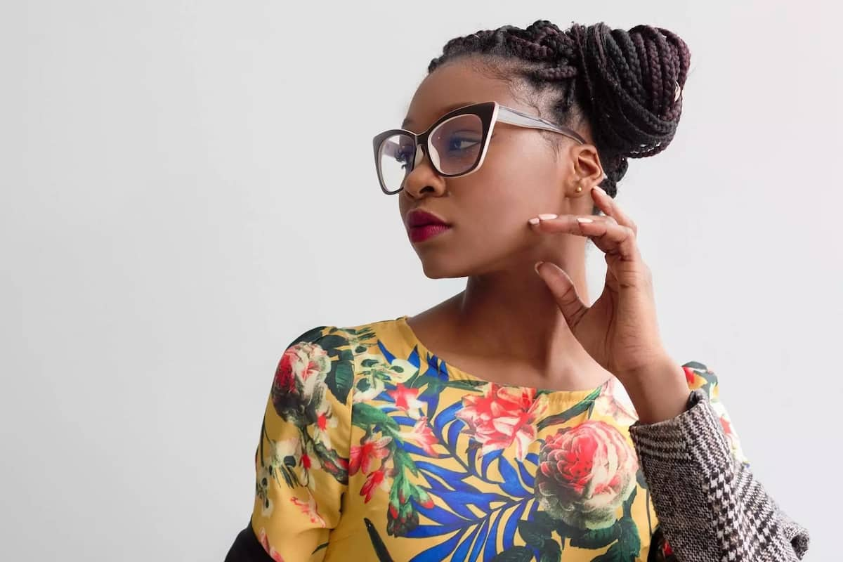 Trendy short box braids styles ▷ Tuko.co.ke