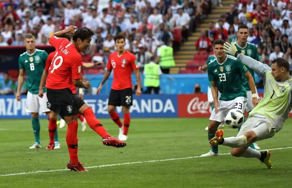 The curse of defending champions at world Cup follows Germany as it crashes out of the competition