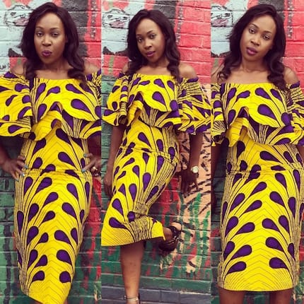 Modern African print dresses 2018