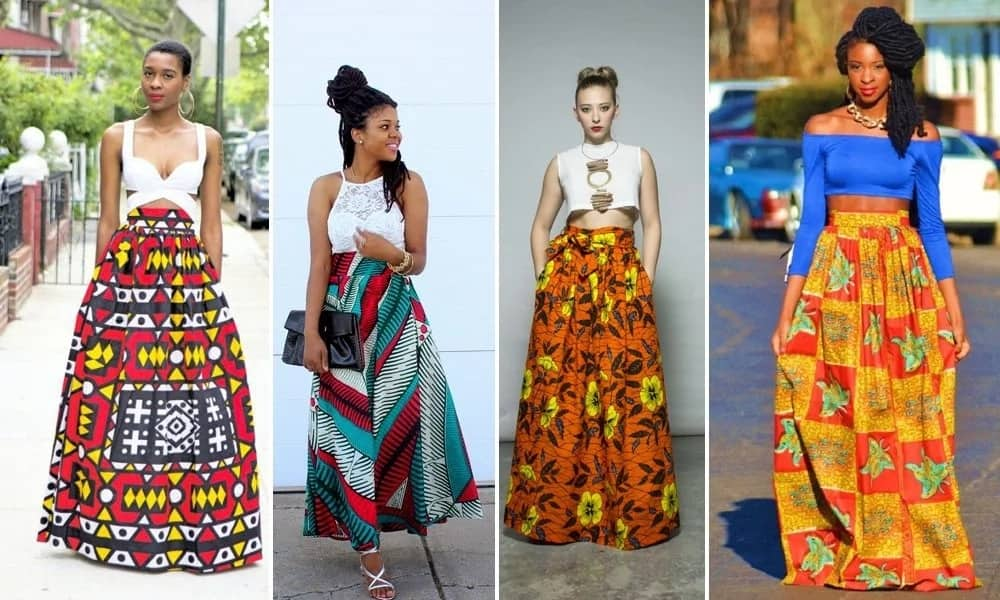 Latest Ankara maxi skirt styles for ladies in Nigeria