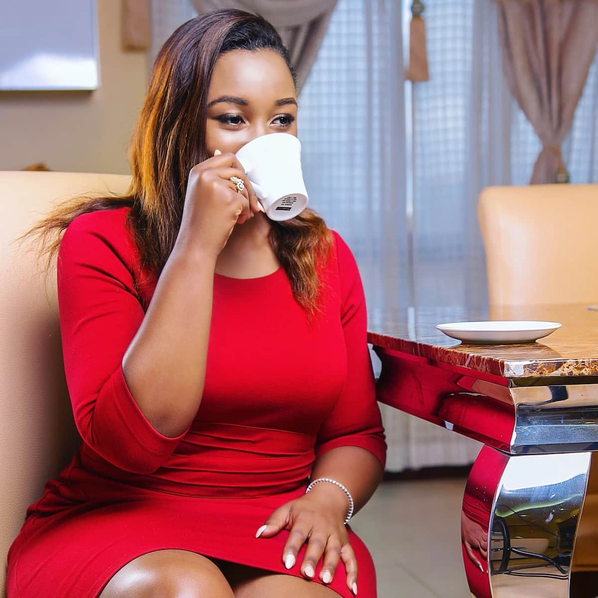Betty Kyallo reveales flawless figure in tight hugging dress and fans are confused