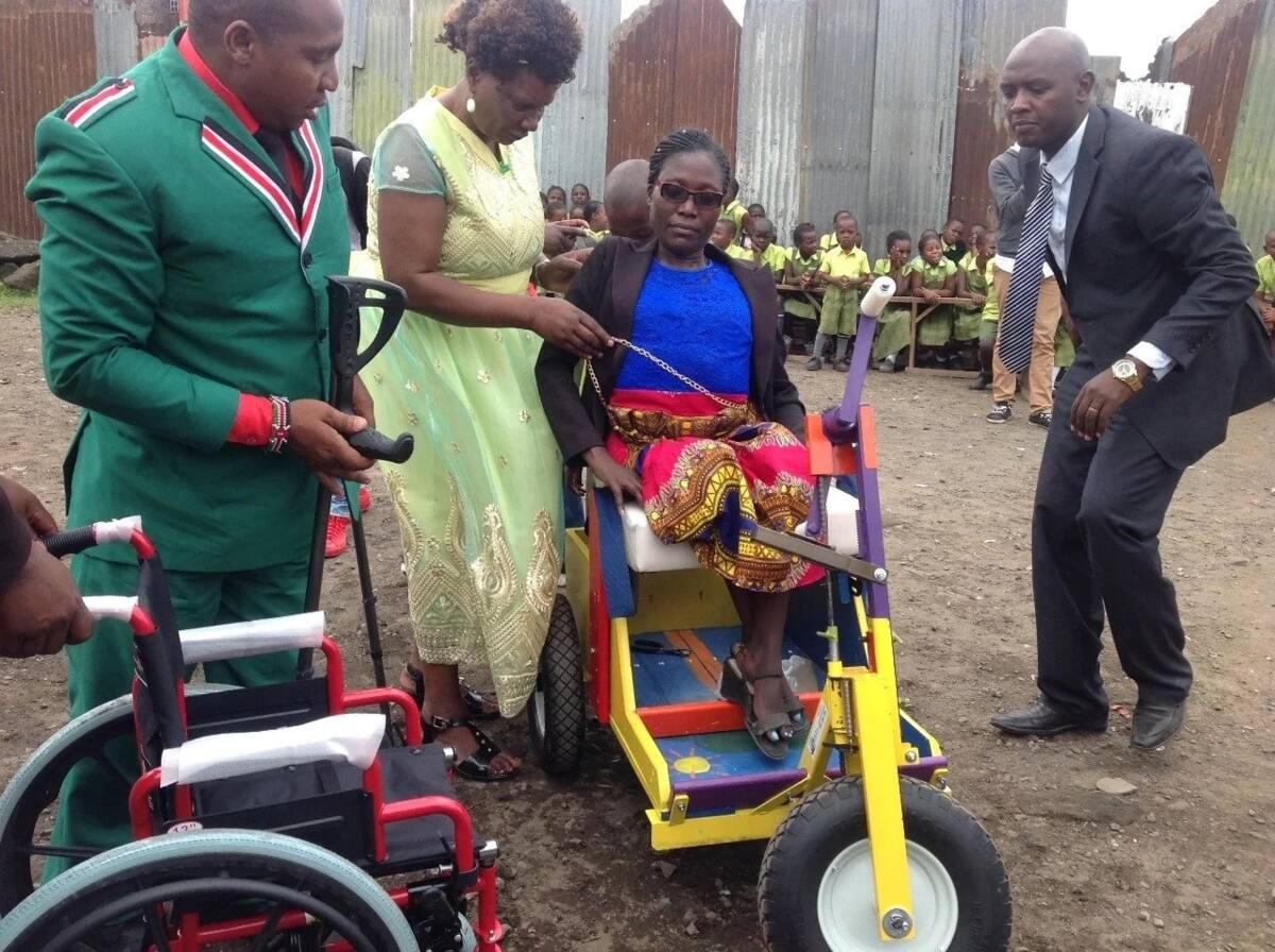 Jubilee MP promises job to Nakuru disabled mum seen getting wheeled to work by son