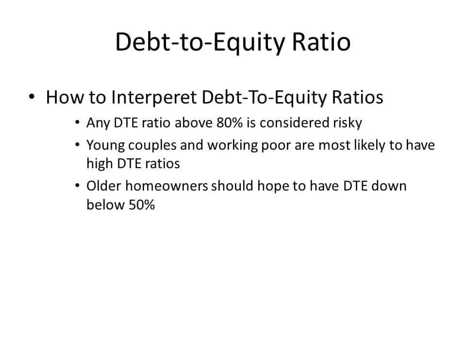 Debt to equity ratio formula and calculation Debt to equity ratio example Limitations of debt to equity ratio Interpreting debt to equity ratio What debt to equity ratio is too high