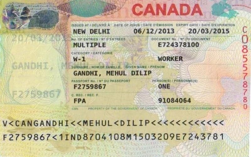 Canadian visa application form, requirements and procedures