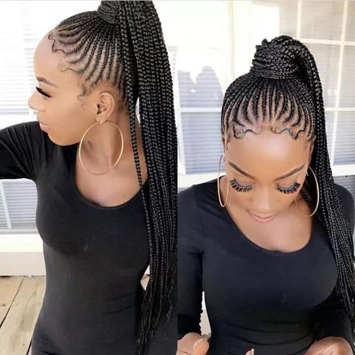 20 Cute African Cornrow Braid Hairstyles With An Updo Tuko Co Ke