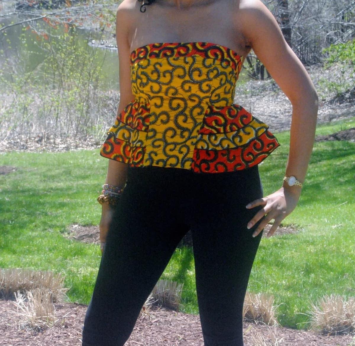 Kitenge top designs for slim ladies