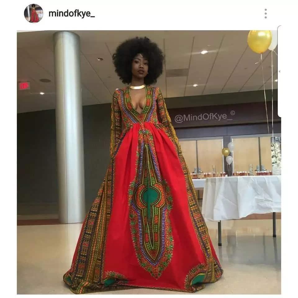 Stylish Kitenge designs for long dresses