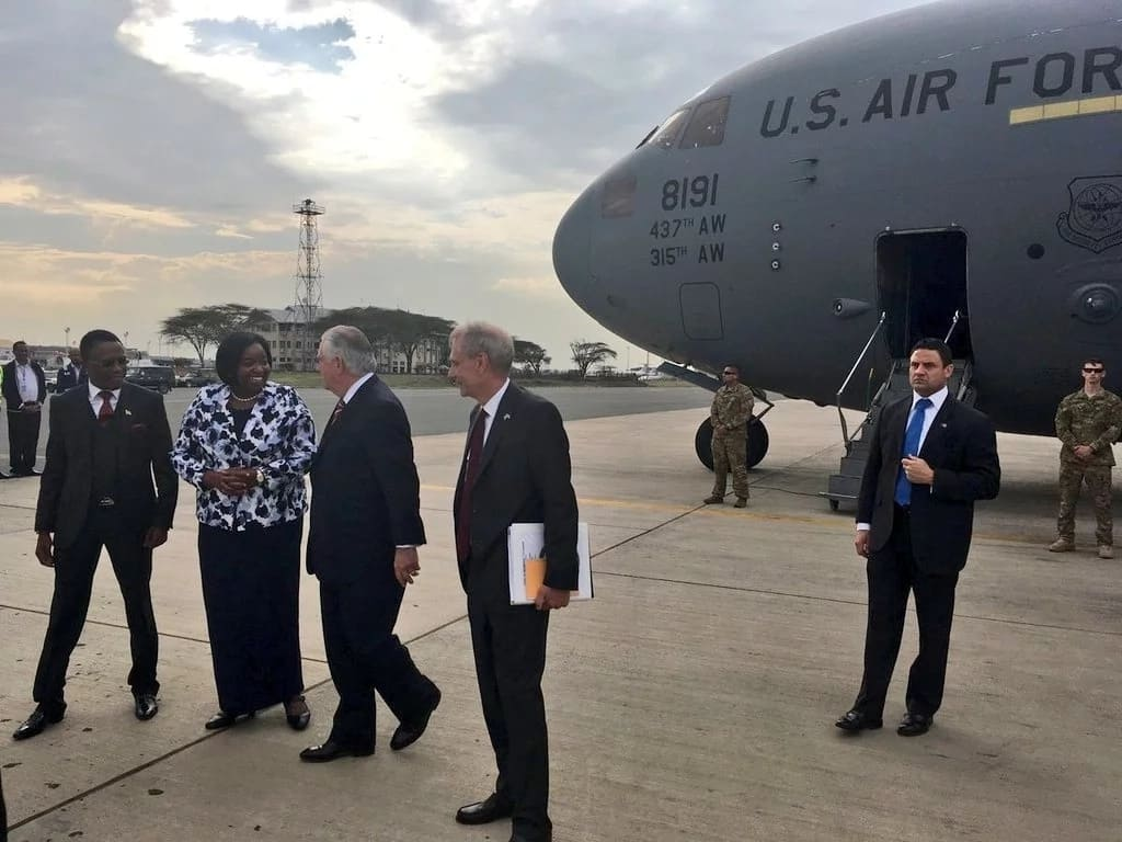 U.S. Secretary of State Rex Tillerson falls in Kenya While on a three day visit