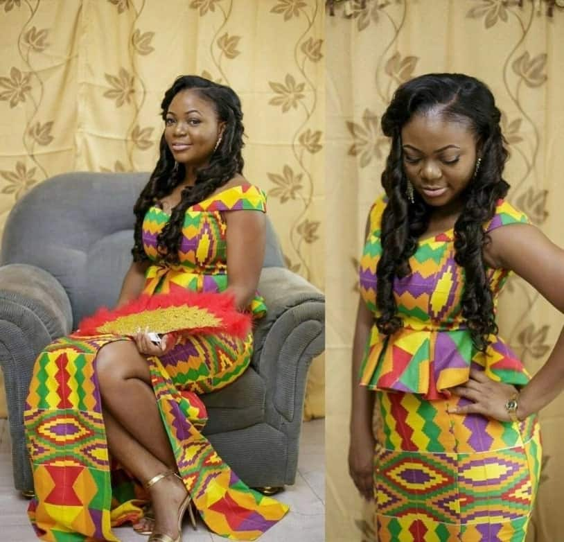 african print dresses 2018, african print dresses styles,  chiffon dresses with african print