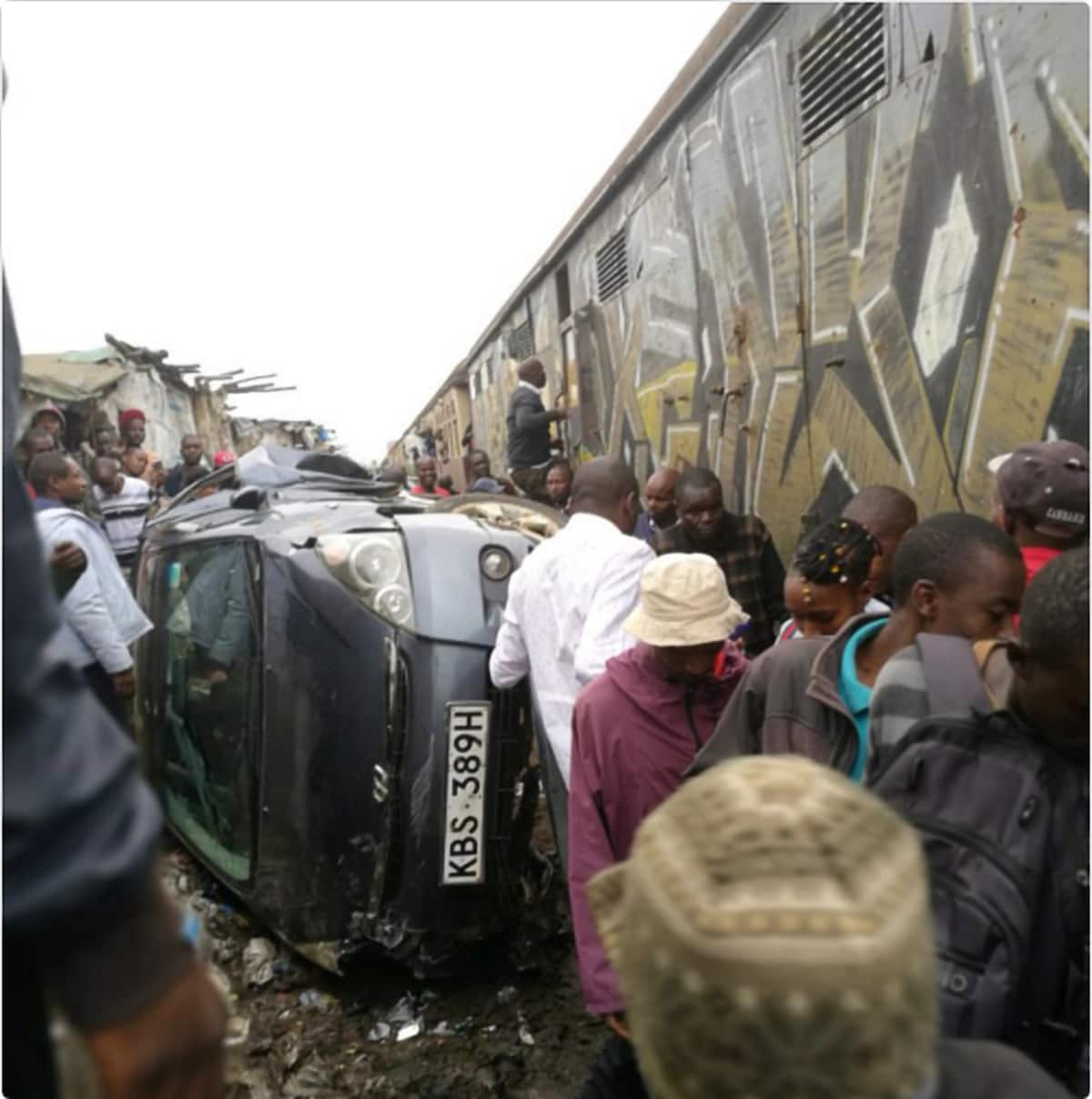 2 narrowly escape death after train rams into car at Mutindwa railway crossing