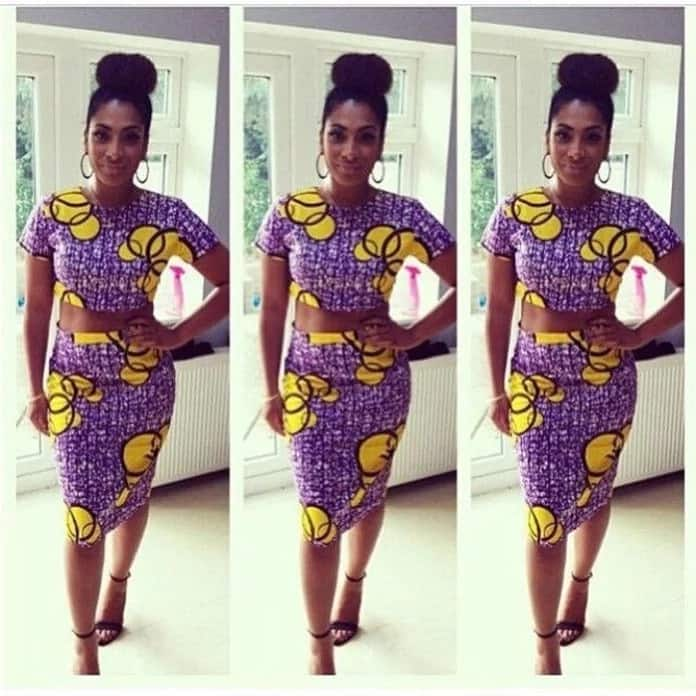 Kitenge skirt and top design