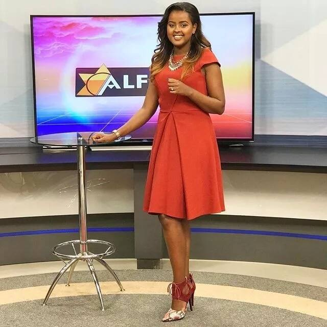 Picha za kuvutia za mtindo wa nywele wa Amina Abdi, mwendeshaji wa The Trend