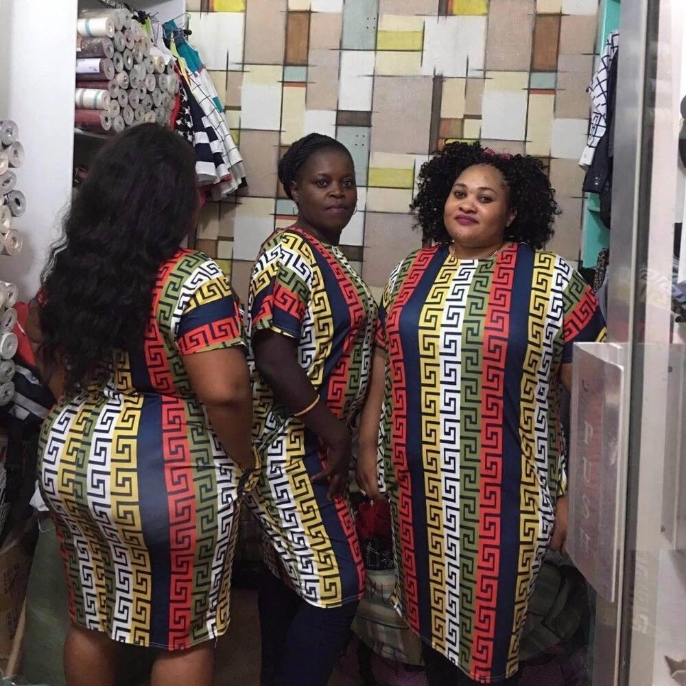 Trending plus size dashiki dress designs 2018