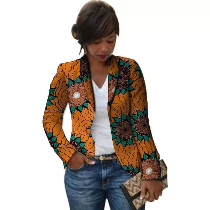Kitenge designs in Kenya - blazer