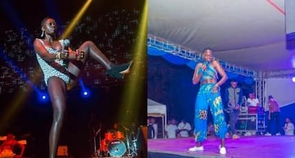 Singer Akothee impresses fans as she performs in flawless dress