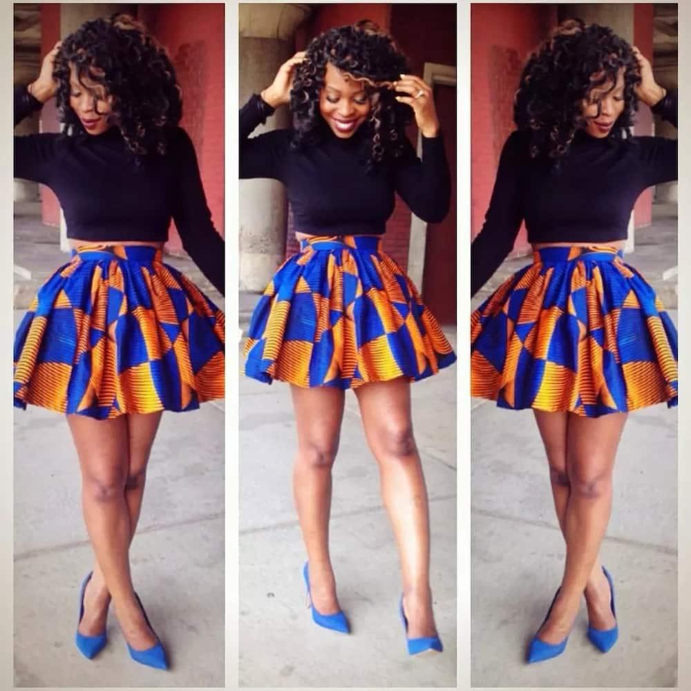 Kitenge skirt designs for slim ladies