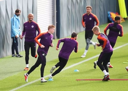 Huge boost for Manchester City as maestro Kevin De Bruyne returns to full training ahead of crucial tie