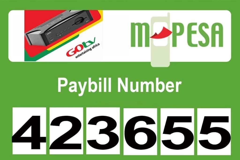 GOtv Mpesa paybill number