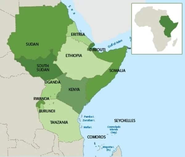 List Of East African Countries And Their Capitals Tuko Co Ke