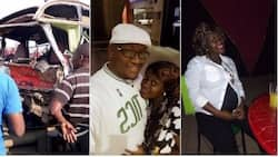 So sad: Nairobi man mourns heavily pregnant wife killed in fatal Thika road accident