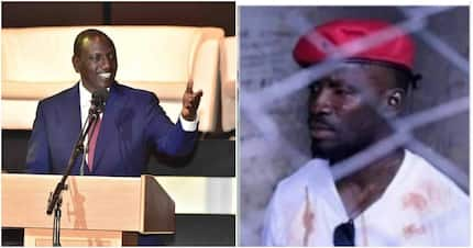 Your award is useless for staying mum on Bobi Wine's freedom -Kenyans tell DP Ruto