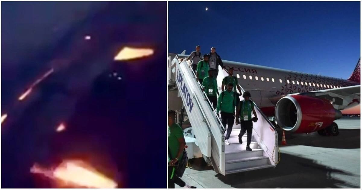 Plane carrying Saudi Arabian team en route to next World Cup match catches fire mid air