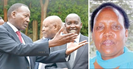 The late Nkaissery's wife speaks on NASA's presence during his funeral