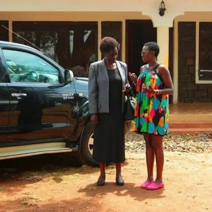 Singer Akothee shows off the house that she has built for her parents