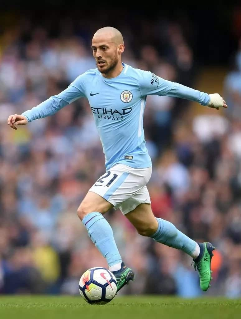 Manchester City superstar David Silva shows off incredible tattoo of his son Mateo