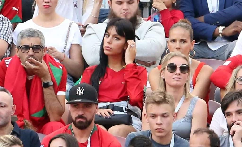 Photos of Christiano Ronaldo's lover wildly cheering him on in Russia