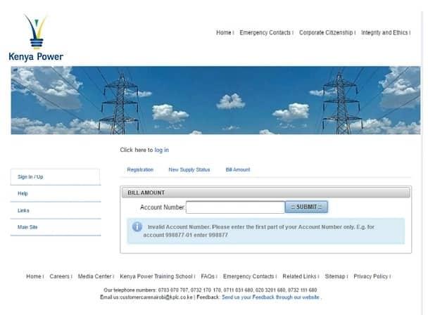 kenya power bill statement online