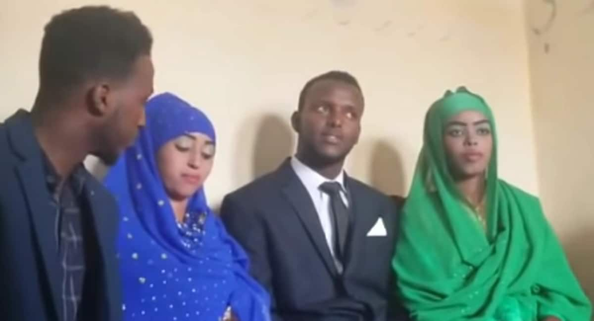 Somali man over the moon after marrying two ladies in same wedding