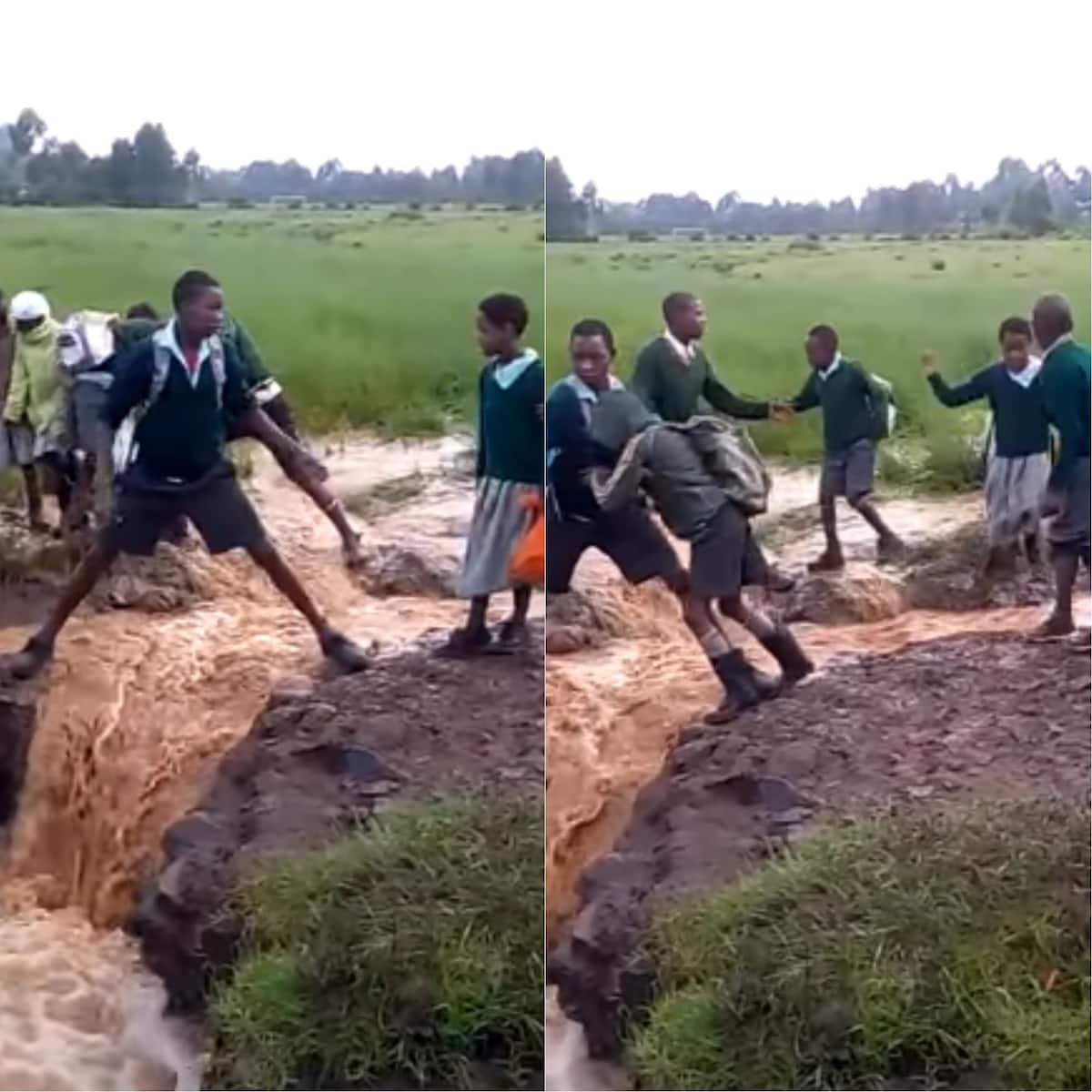 Meet Tiekunu Primary School pupils who risk their lives everyday just to get to school