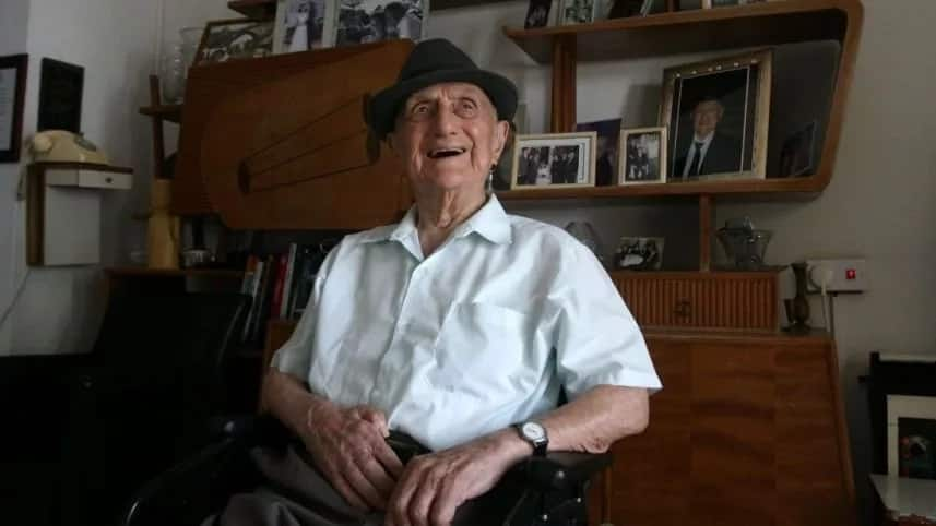 Yisrael Kristal has died aged 113. Photo: Yaron Kaminsky