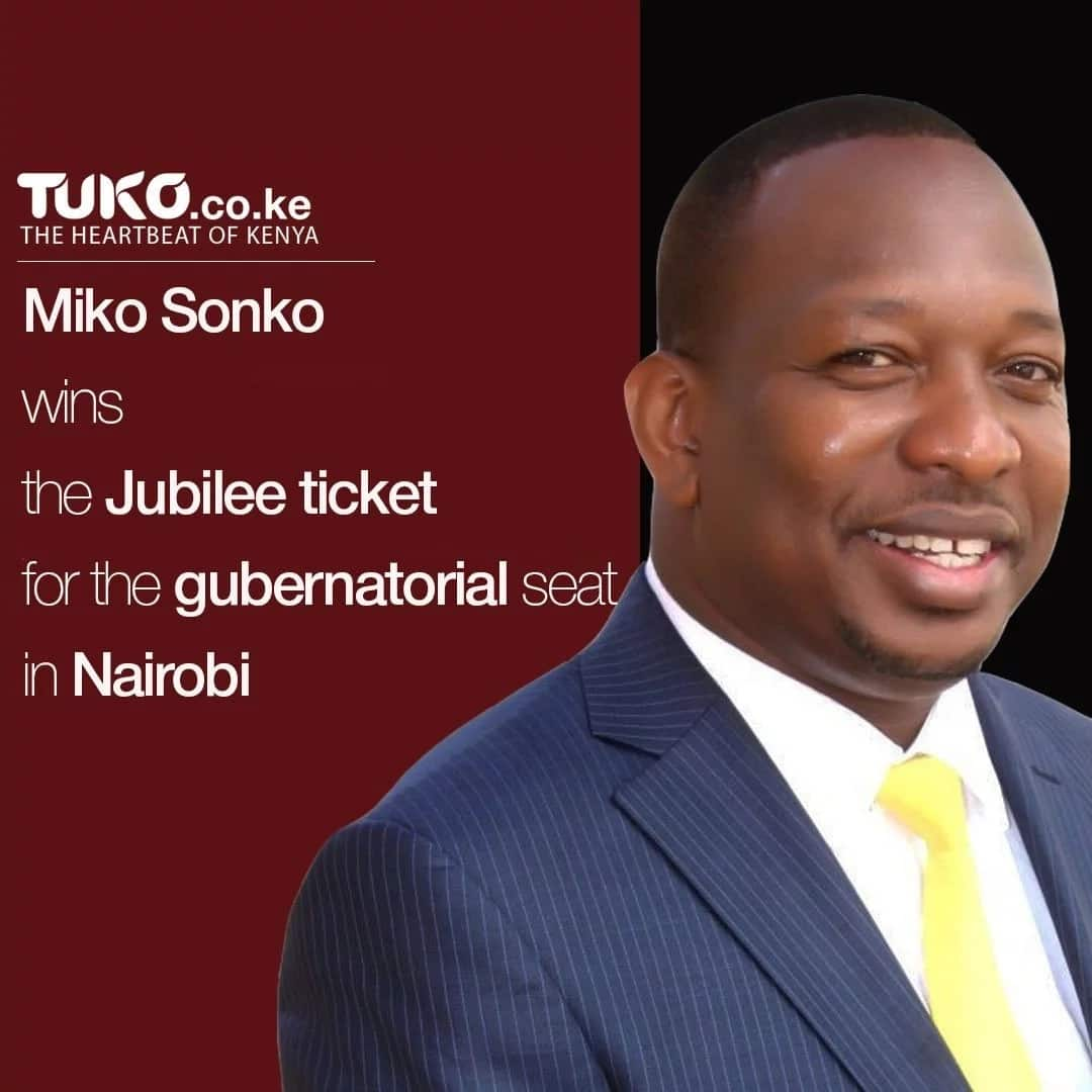 Sonko beats Kenneth in Jubilee's Nairobi governorship race