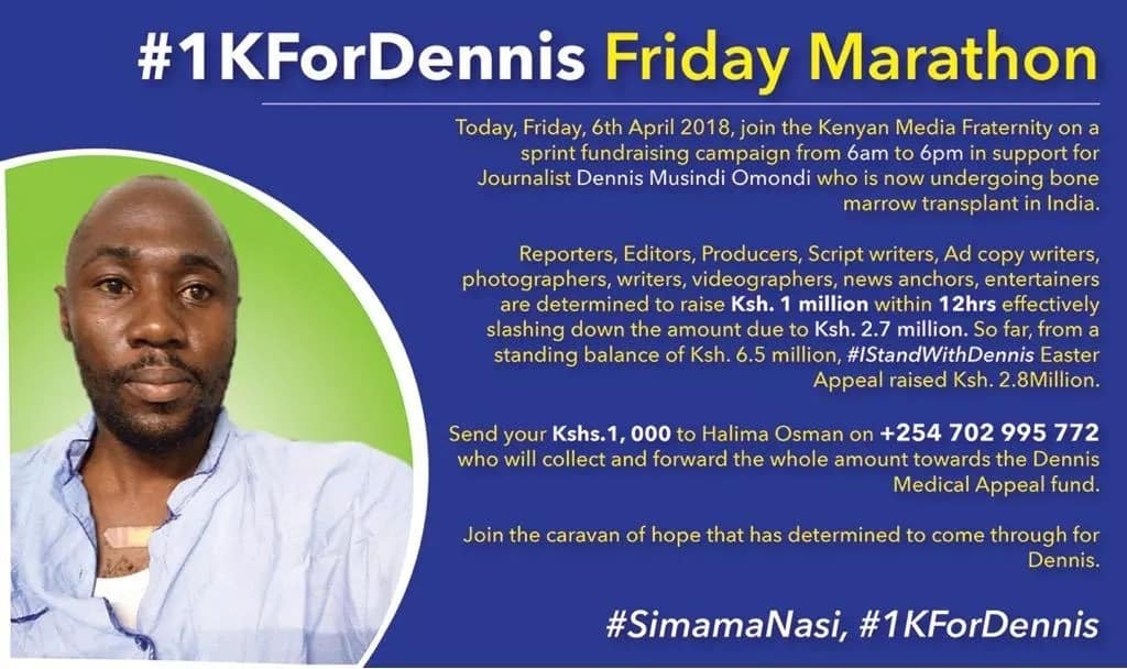 Journalist Dennis Omondi resumes cancer treatment in India after Kenyans unite to fundraise