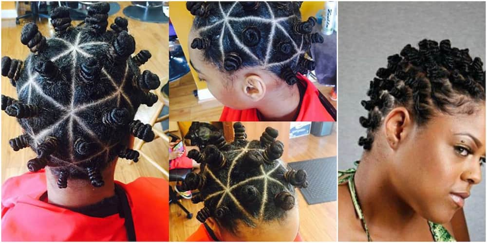 20 beautiful Bantu knots hairstyles on short hair ▷ Tuko.co.ke