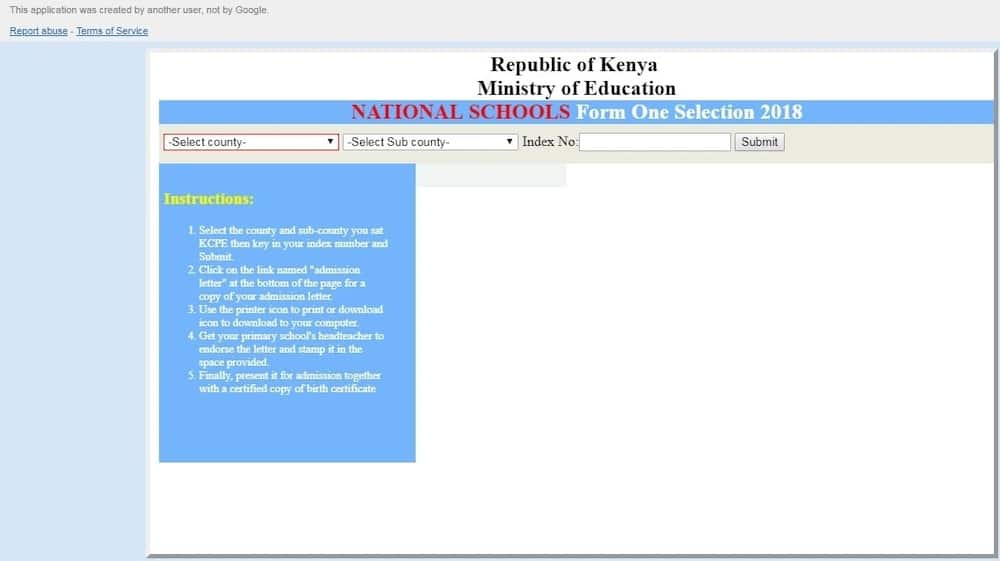 secondary school selection,knec form one selection,form one intake