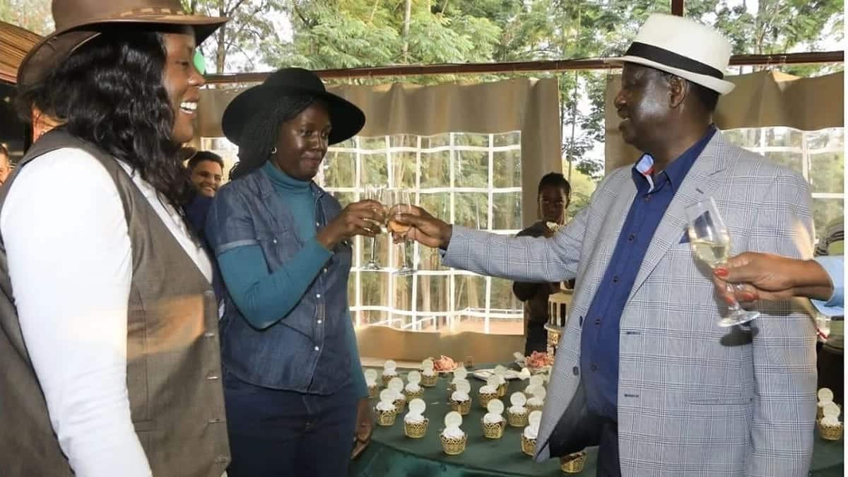 Raila Odinga's elder daughter in first public appearance since collapsing