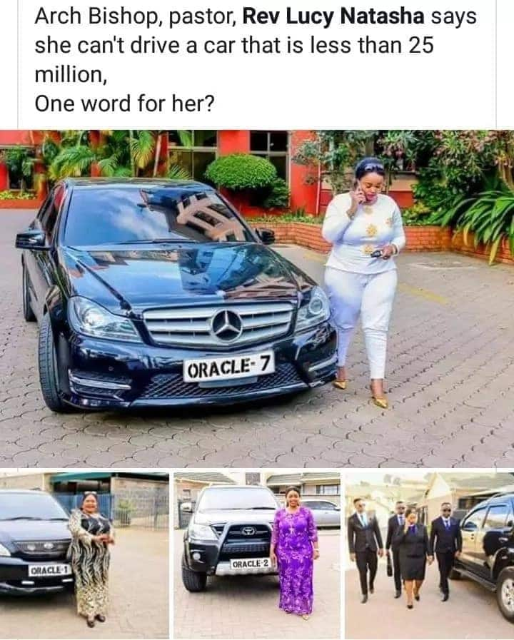 Prettiest pastor Lucy Natasha flaunts expensive car collection and Kenyans cannot keep calm